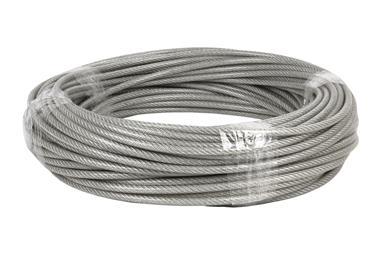 Comprar CABLE ACERO (4mm) 2X4MM  6X7+1 PLAST.  (50M) COF-00503004 en Ferretería el Clavo.