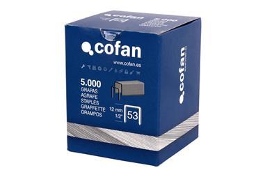 Comprar CAJA DE GRAPAS 53/12MM (5.000 PCS) COF-09002053 en Ferretería el Clavo.