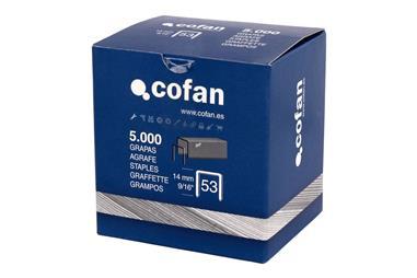 Comprar CAJA DE GRAPAS 53/14MM (5.000 PCS) COF-09002054 en Ferretería el Clavo.