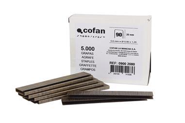 Comprar CAJA DE GRAPAS 90/20mm (5.000 PCS) COF-09002080 en Ferretería el Clavo.