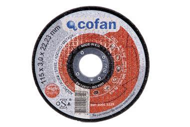 Comprar DISCO CORTE - 125X3,0X22,23 METAL PROFES. COF-10010125 en Ferretería el Clavo.