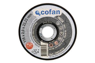 Comprar DISCO CORTE - 115X2,0X22,23 INOX PROFES. COF-10030115 en Ferretería el Clavo.