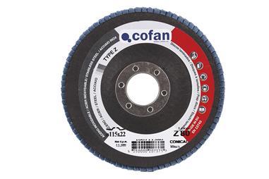 Comprar DISCO LAMINADO 115 MM. - GRANO 60 INOX COF-100711560 en Ferretería el Clavo.