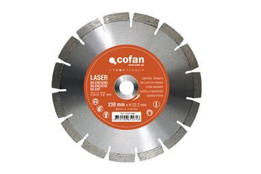 Comprar DISCO DIAMANTE CANTERO SILENCIOSO 230MM COF-10121230 en Ferretería el Clavo.