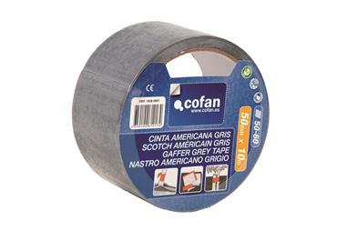 Comprar CINTA AMERICANA GRIS 180 Micras 50mm X 25 Mts COF-10390002 en Ferretería el Clavo.