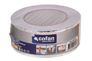 Comprar CINTA DE ALUMINIO 30 MICRAS 75MM X 45MTS COF-10390011 en Ferretería el Clavo.