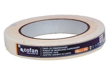 Comprar CINTA CREPE CARROCERO 18MM X 45MTS COF-10390015 en Ferretería el Clavo.