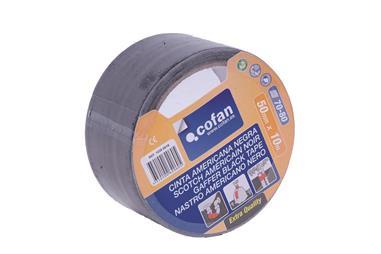 Comprar CINTA AMERICANA NEGRA 190 Micras 50mm X 25 Mts COF-10390020 en Ferretería el Clavo.