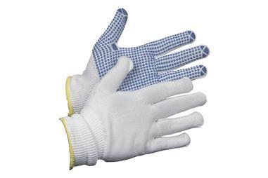 Comprar GUANTE 100% NYLON C/PUNTITOS PVC T-8 (Envase de 12) COF-11000079-8 en Ferretería el Clavo.