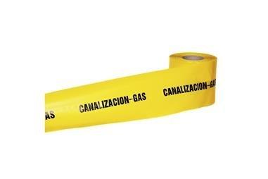 Comprar CINTA BALIZ. CANALIZACION GAS 150MMX250MTS COF-11000312 en Ferretería el Clavo.