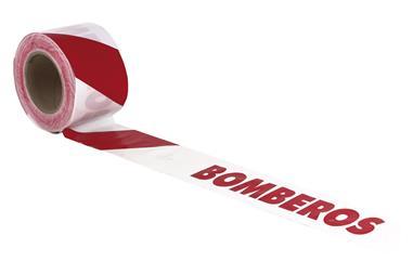 Comprar CINTA BALIZ. BOMBEROS  80MMX100MTS COF-11000334 en Ferretería el Clavo.