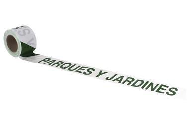 Comprar CINTA BALIZ. PARQUES Y JARDINES  80MMX100MTS COF-11000335 en Ferretería el Clavo.