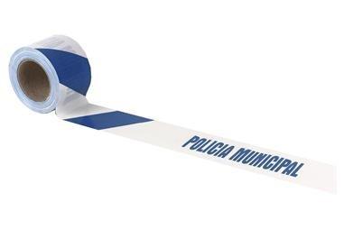 Comprar CINTA BALIZ. POLICIA MUNICIPAL  80MMX100MTS COF-11000336 en Ferretería el Clavo.