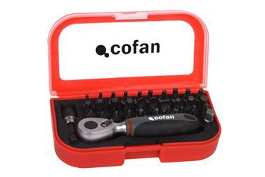 Comprar SET MINI CARRACA 1/4 CON PUNTAS (33 pcs.) COF-14009021 en Ferretería el Clavo.