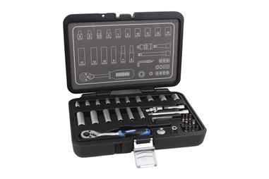 Comprar MALETIN 36 PCS PROFESIONAL VASOS 1/4 COF-14009023 en Ferretería el Clavo.
