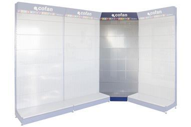 Comprar EXPOSITOR RINCON MURAL 2200x460X1030MM COF-21001103 en Ferretería el Clavo.