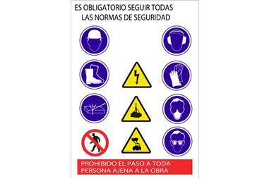 Comprar CARTEL DE OBRA EN GLASSPACK 500X700 COF-21201002 en Ferretería el Clavo.