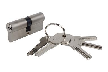 Comprar Cilindro de Seguridad 30/40- Niquel mate-Leva Larga COF-31013040N en Ferretería el Clavo.