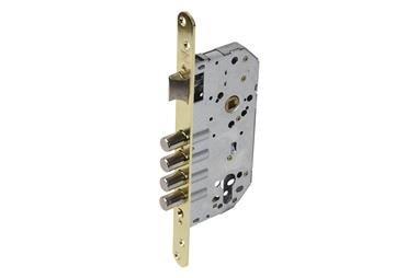 Comprar Cerradura Embutir 4 B-Redonda+cerradero D85 E50 Latón (P/Madera) COF-31265001 en Ferretería el Clavo.