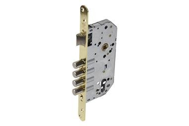 Comprar Cerradura Embutir 4 B-Redonda+cerradero D85 E50 Níquel (P/Madera) COF-31265001N en Ferretería el Clavo.