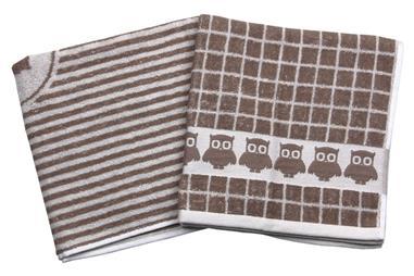 Comprar PACK 2 PAÑOS COCINA 50x50 TOSTADO MOD.GARNACHA COF-41004804 en Ferretería el Clavo.