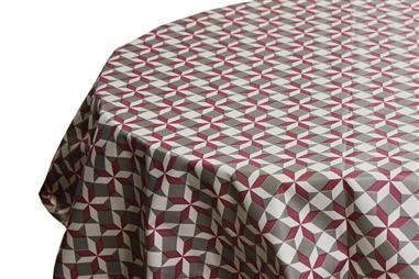 Comprar MANTEL REDONDO FLOR DE LOTO Ø140 CM 65 % PVC+35% POLYPRO COF-41007006 en Ferretería el Clavo.