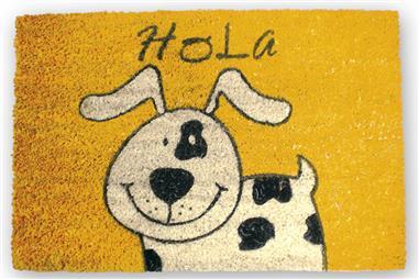 Comprar FELPUDO INTERIOR COCO PINTADO 40X60CM (Perro Hola) COF-41600143 en Ferretería el Clavo.