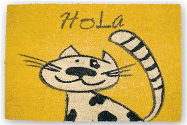 Comprar FELPUDO INTERIOR COCO PINTADO 40X60CM (Gato Hola) COF-41600144 en Ferretería el Clavo.