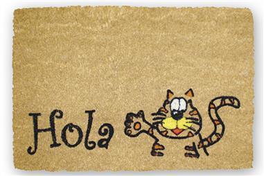 Comprar FELPUDO INTERIOR COCO FLOQUEADO 40X60CM (Gato Hola) COF-41600153 en Ferretería el Clavo.