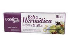 Comprar BOLSAS ZIP MEDIANA 27X28 15UDS COF-41605141 en Ferretería el Clavo.