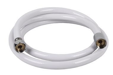 Comprar FLEXO DUCHA PVC/LATÓN COLOR BLANCO 1,5M COF-42001103 en Ferretería el Clavo.