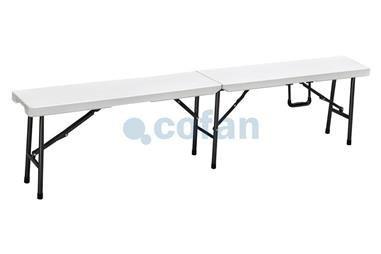 Comprar BANCO PLEGABLE RECTANGULAR BLANCO 180x25x43cm COF-43051013 en Ferretería el Clavo.