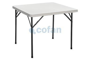 Comprar MESA PLEGABLE CUADRADA BLANCA 88x88x74cm COF-43051015 en Ferretería el Clavo.