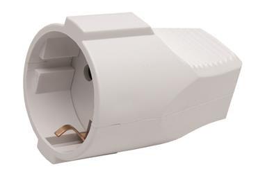Comprar BASE ENCHUFE AEREA BLANCA (16A-250V) COF-51001026 en Ferretería el Clavo.