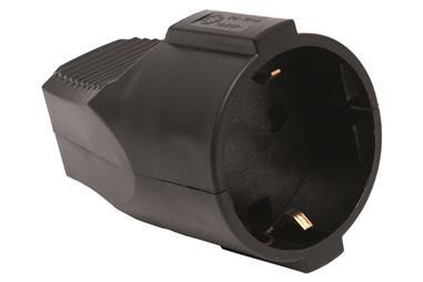Comprar BASE ENCHUFE AEREA NEGRA (16A-250V) COF-51001027 en Ferretería el Clavo.