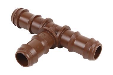 Comprar CONEXIÓN EN T Ø16MM (MARRÓN-MAX SEGUR.) (Envase de 100) COF-90016072 en Ferretería el Clavo.