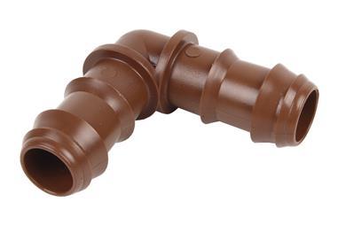 Comprar CONEXIÓN EN CODO Ø16MM (MARRÓN-MAX SEGUR.) (Envase de 100) COF-90016073 en Ferretería el Clavo.