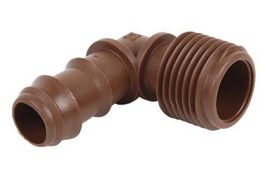 Comprar CON. EN CODO R.MACHO Ø16MM-3/4 (MARRÓN-MAX SEGUR.) (Envase de 100) COF-90016076 en Ferretería el Clavo.