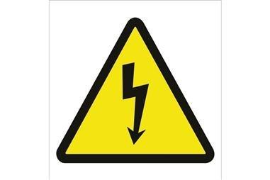 Comprar SEÑAL POLIESTIRENO 105X105 MM Riesgo eléctrico COF-A01PL105105 en Ferretería el Clavo.