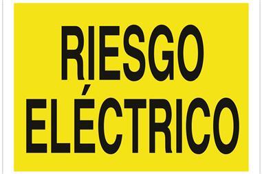 Comprar SEÑAL POLIESTIRENO 297X210 MM Riesgo eléctrico COF-A01TPL297210 en Ferretería el Clavo.