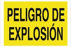 Comprar SEÑAL POLIESTIRENO 297X210 MM Peligro de explosión COF-A05TPL297210 en Ferretería el Clavo.