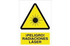 Comprar SEÑAL ADHESIVA 148X105 MM ¡Peligro! radiaciones láser COF-A10AD148105 en Ferretería el Clavo.