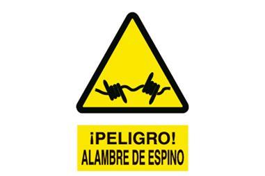 Comprar SEÑAL ADHESIVO 210X148 MM. Alambre de Espino COF-A97AD210148 en Ferretería el Clavo.