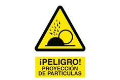 Comprar SEÑAL POLIESTIRENO 210 X 148 MM Proyección partículas COF-A99PL210148 en Ferretería el Clavo.