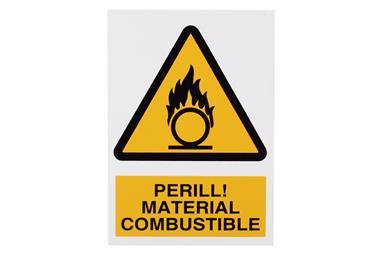 Comprar SEÑAL POLIESTIRENO 297X210 MM Perill Material Combustible COF-CAT-A04PL297210 en Ferretería el Clavo.