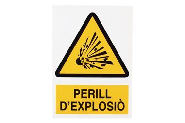 Comprar SEÑAL POLIESTIRENO 297X210 MM Perill DExplosiò COF-CAT-A05PL297210 en Ferretería el Clavo.