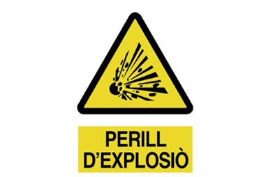Comprar SEÑAL POLIESTIRENO 420X297 MM Perill DExplosiò COF-CAT-A05PL420297 en Ferretería el Clavo.