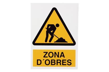 Comprar SEÑAL POLIESTIRENO 297X210 MM Zona dobres COF-CAT-A28PL297210 en Ferretería el Clavo.