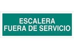Comprar SEÑAL LUMINISCENTE 400X100MM. Escalera Fuera de Servicio COF-EV69LU400100 en Ferretería el Clavo.
