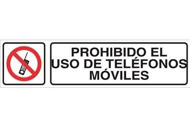 Comprar SEÑAL GLASSPACK ADHESIVA 250X62mm. Prohibido el uso de teléfonos móviles COF-I05GL25062 en Ferretería el Clavo.